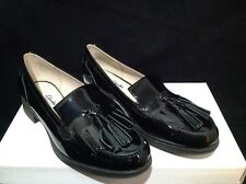 "Black Patent Leather CLARKS Loafers ""Busby Folly"" size UK 4.5 Eu(37.5) NWT"