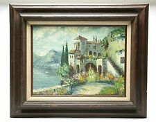 "Oil Painting 12x16"" On Canvas ""Landscaping"". Frame 19,25x23,25"" Signed By Artist"