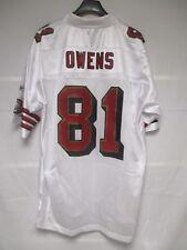Maillot foot américain US DONOVAN OWENS 49ers SAN FRANCISCO NFL Reebok shirt M