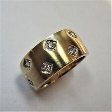 1597 - Attraktiver 11,9 Gramm Caren Pfleger Ring Gelbgold 585 - Brillanten - G1