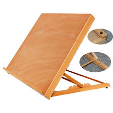 Folding Adjustable Wood Beech Drawing Board Easel Painting Artist Sketch Table