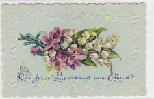 CPA GAUFFREE DECOUPIS fleurs muguet violettes