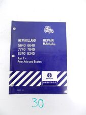 New Holland 5640 6640 7740 7840 8240 8340 Tractor Service Manual Part 7 ONLY
