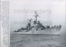 1964 Press Photo USS Decatur DD-936 Forest Sherman Navy Destroyer Ship at Sea