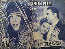 """MON FILM 1949 N 149 """" PATTES BLANCHES """" avec PAUL BERNARD et ARLETTE THOMAS."""