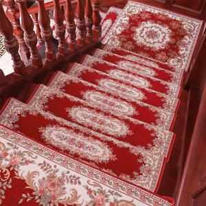 Elegant Floral Self-adhesive Stairs Carpet Non-Slip Rug Stair Treads Chose Size
