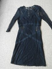 Stunning All Saints Neely Dress Black Size 8 Excellent Condition