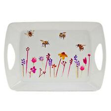 Large 40x30 cm Busy Bees Serving Tray Platter Watercolour Floral Print Design