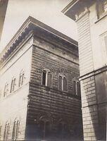 Palais Strozzi Firenze Italia Foto Amateur Vintage Ca 1900