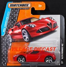 2014 Matchbox #21 (#99) Alfa Romeo 4C Red / Painted Scoops / Short Card / Moc