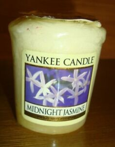 VINTAGE YANKEE CANDLE MIDNIGHT JASMINE VOTIVE OLD LABEL NEW SEALED