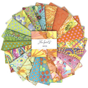 """Kaffe Fassett Classic Parakeet Charm Pack for Free Spirit 42 Pieces 5"""" Square"""
