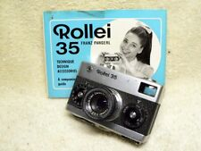 Rare EARLY Vintage Rollei 35 - Film Camera w/ 40mm f/3.5 Zeiss Tessar.  Germany