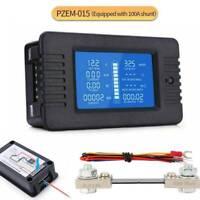 0-200V 100A Digital Monitor LCD Volt Amp Watt Meter Battery Solar Power Analyzer