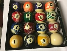 MARBLE DESIGNER Kelly Pool Set 8 - BALL 1-15 2 Inch 51mm WITH SHAKER & MARBLES