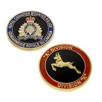 "RCMP Police Challenge Coin ""K"" Division Unit Royal Canadian Mounted Police"