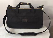 BOYT Black Canvas Leather Trim Duffle Overnight Bag Carry On Luggage