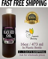 16 FL oz 100% Pure Black Seed Oil Cold Pressed Cumin Nigella Sativa non GMO