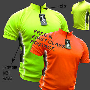 CYCLING JERSEY SHIRT TOP COOL FLO JACKET IDEAL FOR CYCLING RUNNING REAR POCKET !