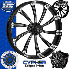 RC Components Cypher Eclipse Custom Motorcycle Wheel Harley Touring Baggers 21""