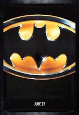 BATMAN * CineMasterpieces JUNE 23 ADVANCE SS ORIGINAL MOVIE POSTER 1989