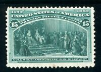 USAstamps Unused FVF US 1893 Columbian Expo Announcing Discovery Scott 238 MNG