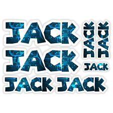JACK Vinyl Name Stickers - A5 Sheet Computer Chip Laptop Name Kids Gift #30005