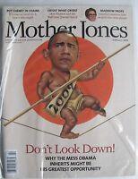 BARACK OBAMA - DON'T LOOK DOWN! February 2009 MOTHER JONES Magazine NEW SEALED!