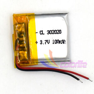 5Pcs/lot 3.7V 302020 100mAh Rechargeable Battery LiPolymer For Recorder GPS Navi