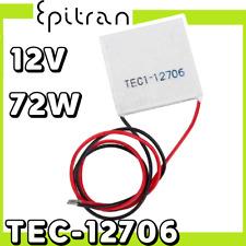Cella celle di Peltier cooler 12V TEC1-12706 12706 raffreddamento 6A 72W 40x40