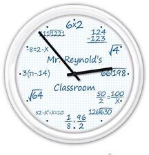Math Classroom PERSONALIZED SILENT Wall Clock Teacher Professor Graph Paper GIFT
