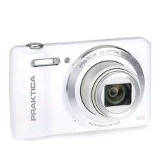 New Praktica Luxmedia Z212 20MP 12x Optical Zoom Digital Camera White *FREE P&P