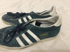 Adidas gazelle blue suede casual trainers size 5