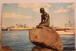 Denmark Copenhagen Langelinie Little Mermaid Postcard Old Vintage Card View Post