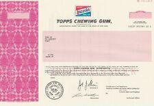 TOPPS CHEWING GUM BAZOOKA BUBBLE GUM SPECIMEN STOCK CERTIFICATE 1982 SCARCE