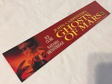 "John Carpenter's Ghosts Of Mars- Movie Theater Mylar Small 2.5 x 11.5"" RARE 2000"