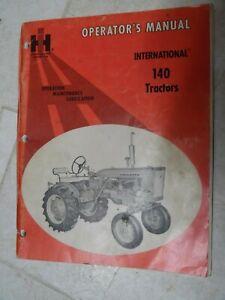 INTERNATIONAL  FARMALL  140 TRACTOR OPERATOR'S MANUAL  GAS ENGINE