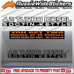 4.2 TURBO DIESEL SOOT for Nissan GU GQ Patrol Doors Custom sticker x2 500mm