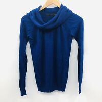 The Limited Womens Size XS Long Sleeve Cowl Neck Sweater Thin Knit Blue 241