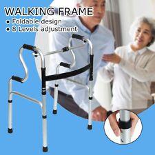 Folding Elderly Walking Frame Aluminum Height Adjustable Patient Aids Safe