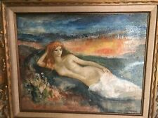 "Nathan Wesserberger (1928-2012) ""NUDE"" Original Signed Oil On Canvas Painting."