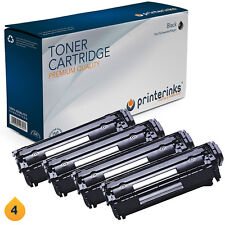 4 Non OEM HP 12A Q2612A Black Toner Cartridges LaserJet 1010 1015 3015 3030 3055