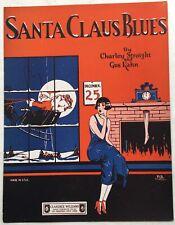 1924 BLACK PUBLISHER sheet music CLARENCE WILLIAMS Christmas SANTA CLAUS BLUES