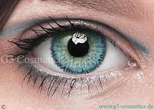 Farbige Blau Kontaktlinsen FreshTone Motiv  Party Linsen Motto Crazy Linsen