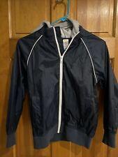 EUC Boys Gymboree Dark blue Windbreaker Zip Up JacketYouth Medium 7-8 Hooded
