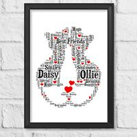 Personalised Print Gifts For Couples Boyfriend Girlfriend Husband Wife Christmas