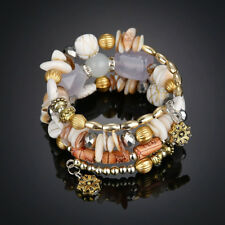 Women Multi Agate Natural Stone Beads Bracelet Wristband Jewelry Gift Fashion