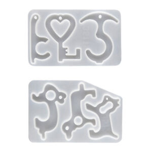 Silicone Mold DIY Epoxy Resin Molds Keychains for Door Handles, Elevator Buttons