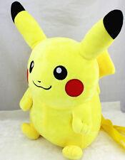 """Pikachu PLUSH backpack large STUFFED yellow toy bag FIGURE about 18"""" POKEMON NEW"""