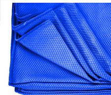 6 blue diamond weave microfiber glass detailing cleaning lintfree towels 16x16
